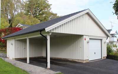 bygg garage carport k p byggsatser monteringsf rdiga moduler. Black Bedroom Furniture Sets. Home Design Ideas