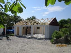 Bygga Björklidens garage - gavelspets