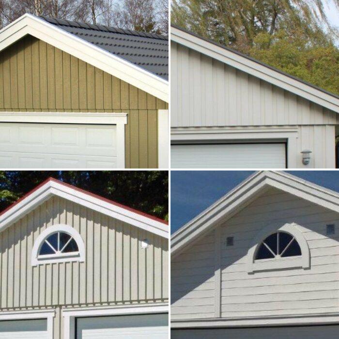 Björklidens fyra olika paneltyper